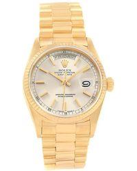 Rolex - Silver 18k Yellow Gold President Day-date Men's Wristwatch 36mm - Lyst