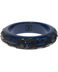 Louis Vuitton - Leo Monogram Wood & Lacquer Bangle - Lyst