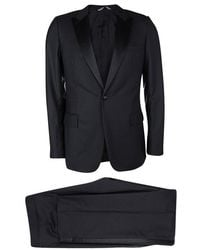 Dior - Wool Satin Panel Detail Regular Fit Tailored Suit L - Lyst