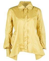5eba707c4d2e Louis Vuitton - Yellow Top Stitch Detail Long Sleeve Asymmetric Shirt S -  Lyst
