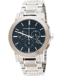 Burberry - Black Stainless Steel The City Bu9351 Men's Wristwatch 42 Mm - Lyst