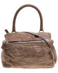 Givenchy - Leather Medium Pandora Crossbody Bag - Lyst 0bdfd0aab1ce0