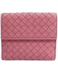 Bottega Veneta - Intrecciato Leather Bifold Wallet - Lyst