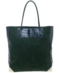 Alexander Wang - Serpentine Suede And Croc Embossed Leather 'prisma' Shopper Tote - Lyst