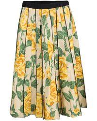Marc Jacobs - Floral Print Pleated Midi Skirt Xs - Lyst