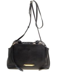 be1f2f04a9c4 Burberry - Leather And House Check Fabric Little Crush Crossbody Bag - Lyst