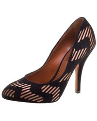 Missoni - /beige Suede And Satin Court Shoes - Lyst