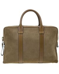 Tom Ford - Suede Buckley Flat Trapeze Briefcase - Lyst