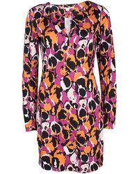 Diane von Furstenberg - Printed Silk Jersey Reina Dress M - Lyst