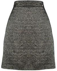 Chanel - Textured Metallic Skirt L - Lyst