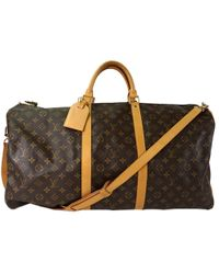 Louis Vuitton - Monogram Canvas Keepall Bandouliere 60 Bag - Lyst