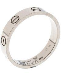 Cartier - Love 18k White Gold Mini Ring - Lyst