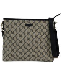 cb5863f1a6f Gucci - Beige navy Gg Supreme Coated Canvas Messenger Bag - Lyst