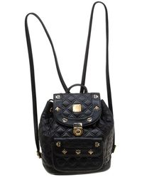 MCM - Black Quilted Leather Stark Backpack - Lyst