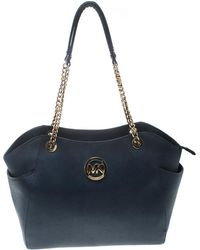 MICHAEL Michael Kors - Blue Saffiano Leather Jet Set Travel Shoulder Bag - Lyst