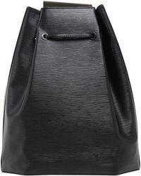 Louis Vuitton - Noir Epi Leather Sac A Dos Drawstring Bag - Lyst