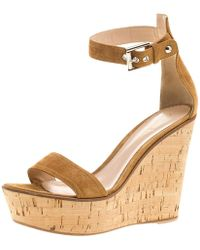 Gianvito Rossi - Suede Wedge Sandals - Lyst