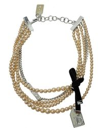 Dior - Couture Faux Pearl Multistrand Choker Necklace - Lyst
