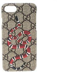 0e2cd65541f6 Gucci - GG Supreme Canvas Kingsnake Print Iphone 6 Case - Lyst