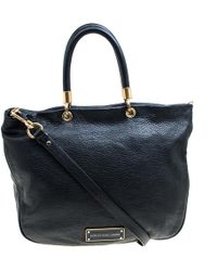 Marc By Marc Jacobs - Black Leather Top Handle Bag - Lyst