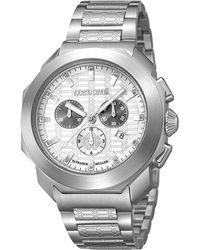 Roberto Cavalli - Stainless Steel Rv1g044m0061 Men's Wristwatch 44mm - Lyst