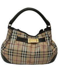 Burberry - Haymarket Check Coated Canvas And Leather Shoulder Bag - Lyst 1154562de0eb9