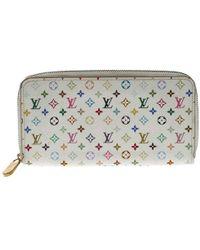 Louis Vuitton - White E Monogram Canvas Zippy Wallet - Lyst