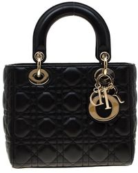 Dior Lady Black Leather