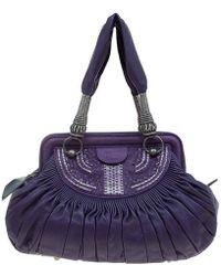 Dior - Purple Pleated Leather Plisse Satchel - Lyst