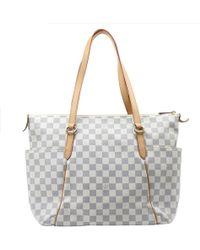 Louis Vuitton - Damier Azur Canvas Totally Mm Bag - Lyst
