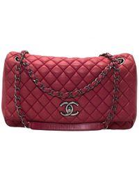 Chanel - Red Leather Handbag - Lyst
