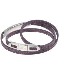 Tod's - Lilac Leather Triple Wrap Bracelet - Lyst