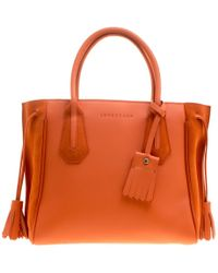 Longchamp - Leather And Suede Penelope Fantaisie Tote - Lyst