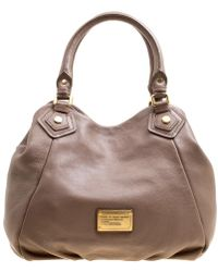 3b9074616369 Marc By Marc Jacobs - Brown Leather Classic Q Francesca Top Handle Bag -  Lyst