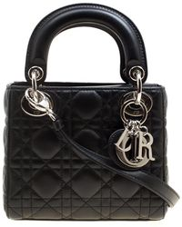 Dior - Leather Mini Lady Tote - Lyst