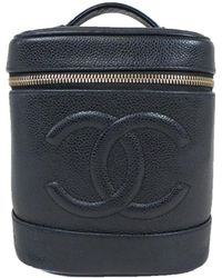 049f828ac619 Lyst - Chanel Quilted Vanity Case Black in Metallic