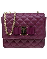 Ferragamo - Quilted Leather Ginny Shoulder Bag - Lyst