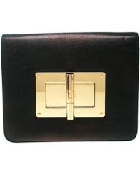 Tom Ford - Black Leather Large Natalia Clutch - Lyst