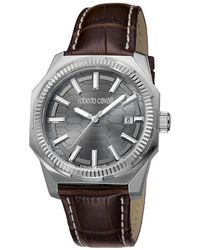 e1985a1214a00 Roberto Cavalli Men's Pyramid Watch in Metallic for Men - Lyst
