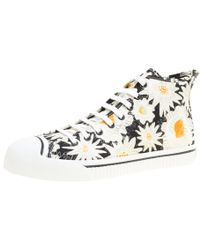 d94ceb5a4cd Burberry - Floral Print Canvas Kingly High Top Trainers - Lyst
