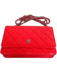 Chanel - Pink Quilted Patent Leather Woc Clutch Bag - Lyst