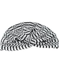 Missoni Mare Monochrome Zig Zag Pattern Knit Beach Turban