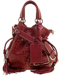 Lancel - Croc Embossed Leather Small Premier Flirt Bucket Bag - Lyst