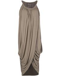 Lanvin - Gathered Draped Sleeveless Dress M - Lyst