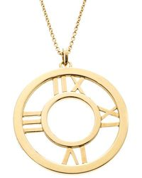 Tiffany & Co. - Atlas 18k Yellow Gold Round Pendant Necklace - Lyst