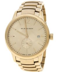Burberry - Plated Steel Bu10006 The Classic Round Mantel Women's Wristwatch 40 Mm - Lyst