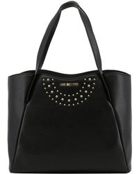 Moschino - Love Black Faux Leather Tote - Lyst