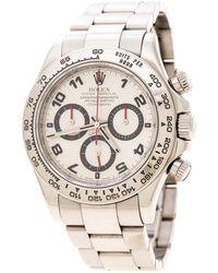 Rolex - Silver 18k White Gold Cosmograph Daytona 116509 Men's Wristwatch 39 Mm - Lyst