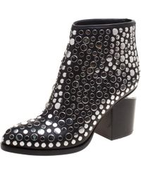 Alexander Wang - Studded Leather Gabi Ankle Boots - Lyst