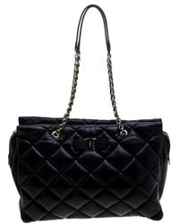 Ferragamo - Quilted Leather Ginette Chain Shoulder Bag - Lyst